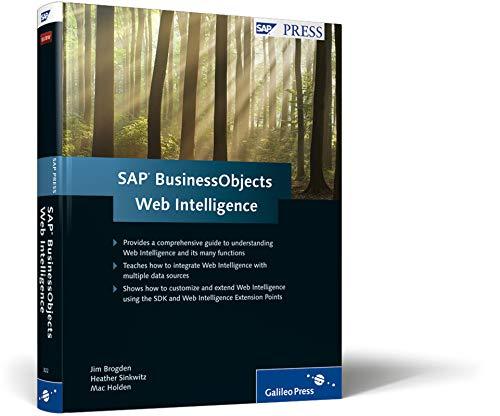 9781592293223: SAP BusinessObjects Web Intelligence