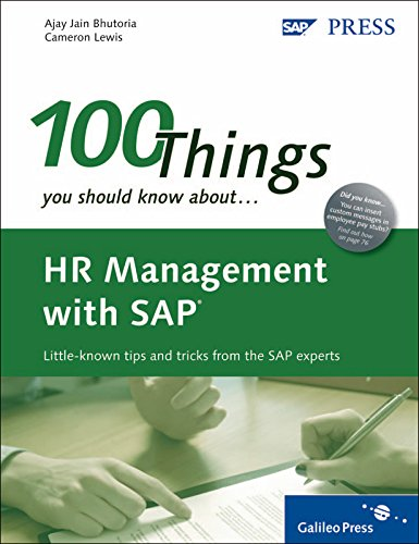 9781592293612: HR Management with SAP: 100 Things You Should Know About...