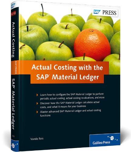 Actual Costing with the SAP Material Ledger (Hardback): Vanda Reis