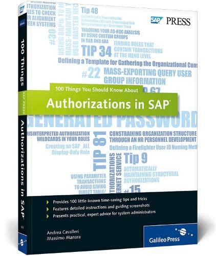 Authorizations in SAP: Andrea Cavalleri