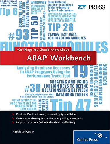 9781592294275: ABAP Workbench: 100 Things You Should Know About...