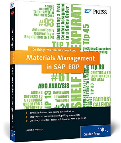 9781592294381: Materials Management in SAP ERP: 100 Things You Should Know About...