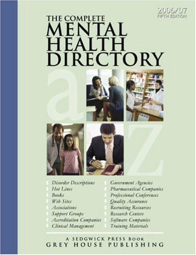 9781592371242: The Complete Mental Health Directory: A Comprehensive Source Book for Individuals and Professionals