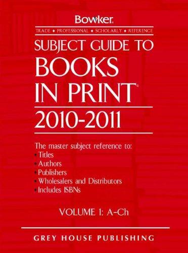 Subject Guide to Books in Print 6 Volume Set 2010/11 (Hardback)