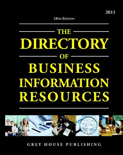 9781592377374: Directory of Business Information Resources 2011 (Directory of Business Information Resources (Paperback))