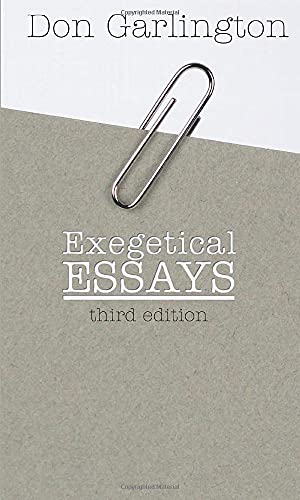9781592443932: Exegetical Essays, 3rd Edition: Revised and Expanded