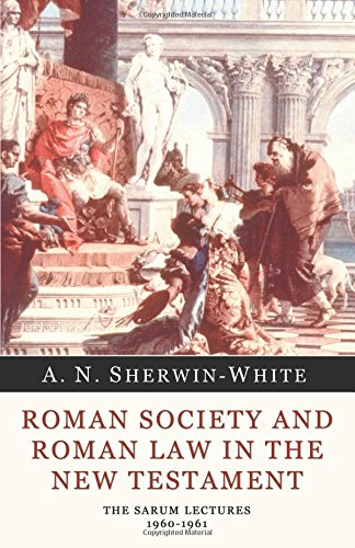 9781592447473: Roman Society and Roman Law in the New Testament: The Sarum Lectures 1960-1961