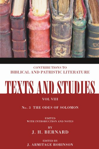 9781592448371: The Odes of Solomon: (Texts and Studies: Contributions to Biblical and Patristic L)