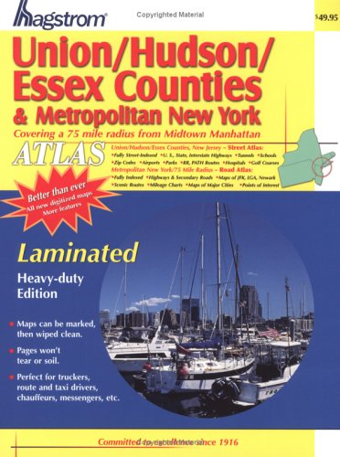 9781592459704: Hagstrom Union/Hudson/Essex Counties & Metropolitan New York: Covering a 75 Mile Radius from Midtown Manhattan (Hagstrom Union, Hudson, Essex New Jersey (Spiral/Laminated))
