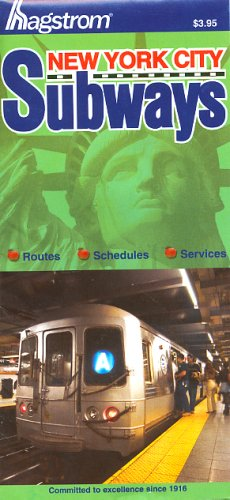 9781592459988: Hagstrom New York City Subways Map