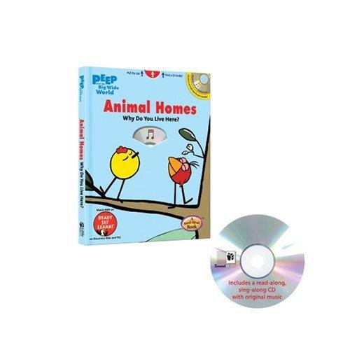 Peep and the Big Wide World: Animal Homes (Casebound Hide-N-Seek Book W/ CD)