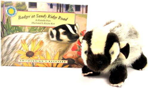 9781592494255: Badger at Sandy Ridge Road - a Smithsonian's Backyard Book (Mini book with stuffed toy animal) (Smithsonian Backyard)