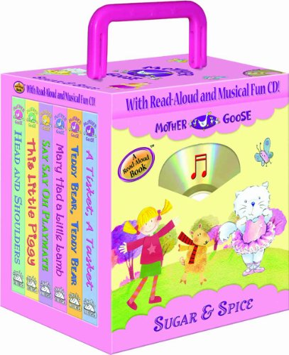 9781592494712: Mother Goose Nursery Rhymes Sugar and Spice 6- books Travel Pack (with audio CD and carrying case) (Travel Pack)