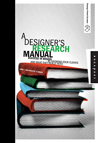 9781592535576: A Designer'S Research Manual /Anglais: Succeed in Design by Knowing Your Clients and What They Really Need (Design Field Guides)