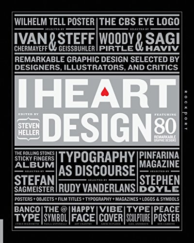 9781592536825: I Heart Design: Remarkable Graphic Design Selected by Designers, Illustrators, and Critics