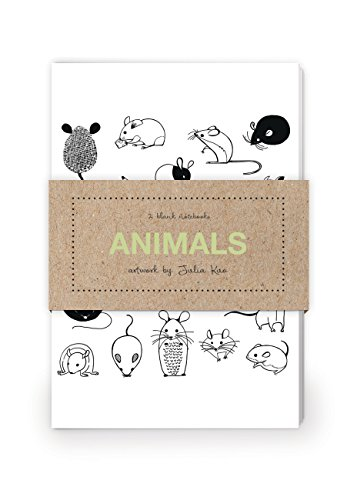 9781592539680: Animals Artwork by Julia Kuo Journal Collection 1: Set of two 64-page notebooks