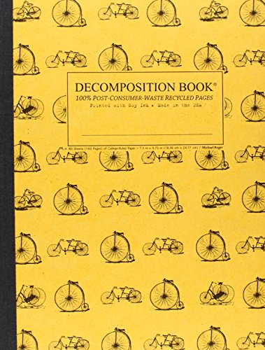 9781592540235: Vintage Bicycles Decomposition Book: College-ruled Composition Notebook With 100% Post-consumer-waste Recycled Pages
