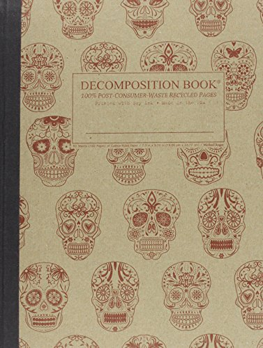 9781592540242: Sugar Skulls Decomposition Book: College-ruled Composition Notebook With 100% Post-consumer-waste Recycled Pages