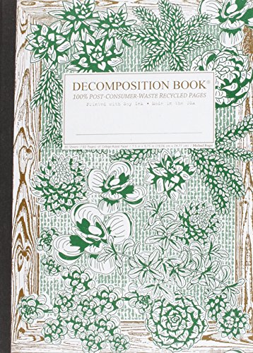 9781592540341: Succulent Garden Decomposition Book: College-ruled Composition Notebook With 100% Post-consumer-waste Recycled Pages