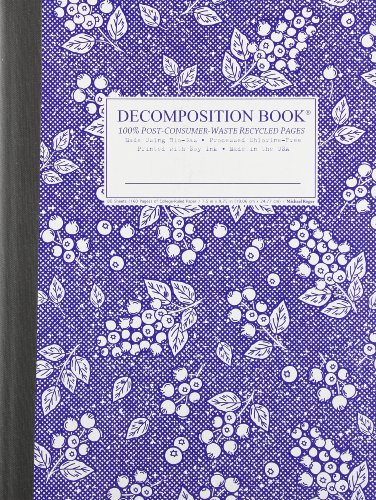 Blueberry Decomposition Book: College-ruled Composition Notebook With 100% Post-consumer-waste ...