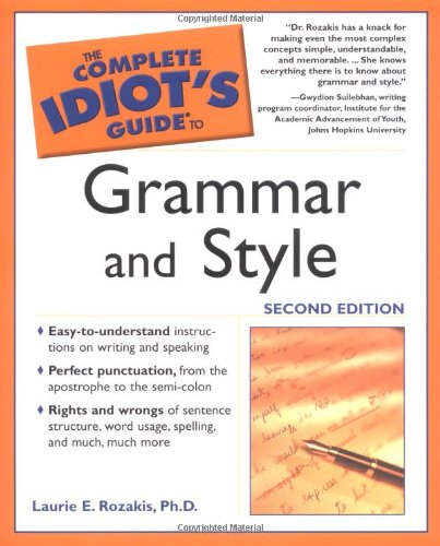 9781592571154: The Complete Idiot's Guide to Grammar and Style (Complete Idiot's Guides (Lifestyle Paperback))