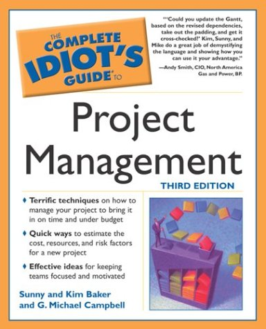 9781592571192 complete idiot s guide to project management rh abebooks co uk Complete Idiots Guide to Facebook the complete idiot's guide to project management 5th edition pdf