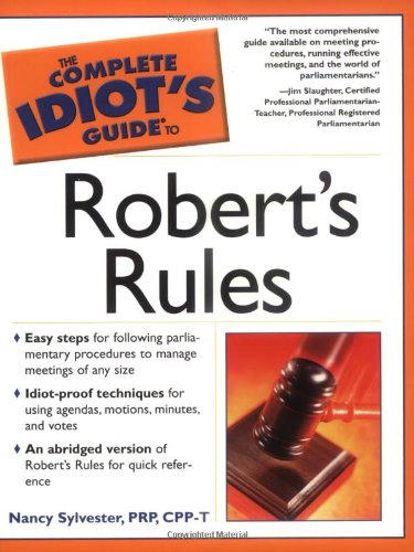 9781592571635: The Complete Idiot's Guide to Robert's Rules