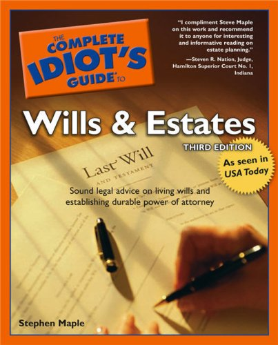 9781592573639: The Complete Idiot's Guide to Wills and Estates, Third Edition