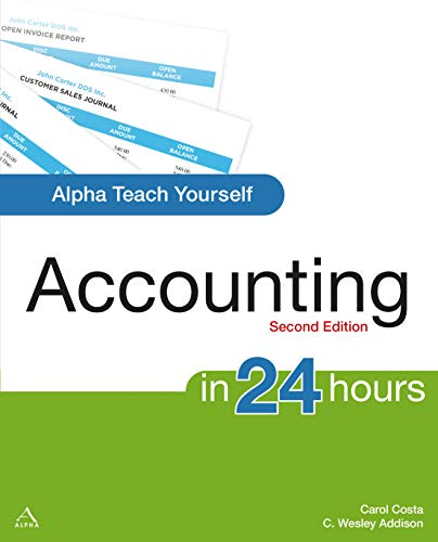 9781592575022: Alpha Teach Yourself Accounting in 24 Hours (Alpha Teach Yourself in 24 Hours)