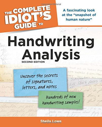 9781592576012: The Complete Idiot's Guide to Handwriting Analysis, 2nd Edition