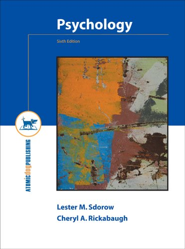 Psychology: Lester Sdorow; Cheryl
