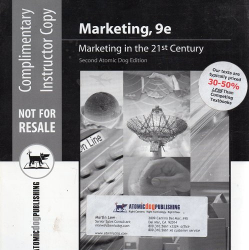 Marketing: Marketing in the 21st Century, Ninth Edition: Joel R. Evans