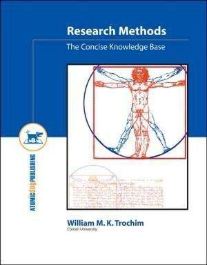 Research Methods: The Concise Knowledge Base