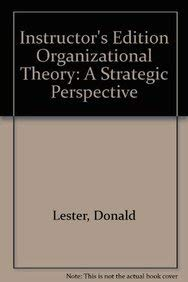 9781592602582: Organizational Theory: A Strategic Perspective