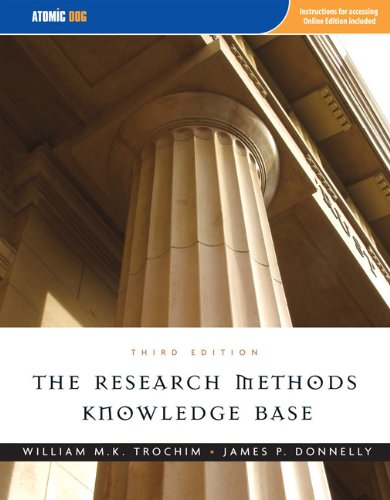 9781592602919: The Research Methods Knowledge Base, 3rd Edition