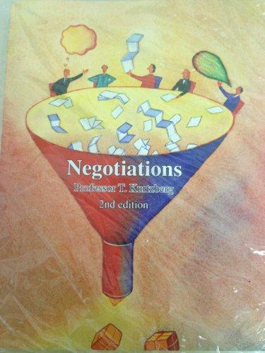 9781592710942: Negotiations