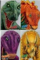 Dinosaurs Shaped Board Book 4-Pack Apatosaurus, Stegosaurus,