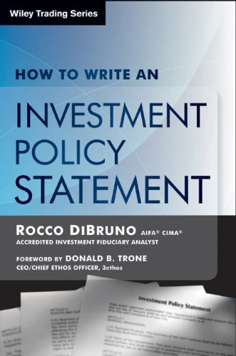 9781592800988: How to Write an Investment Policy Statement