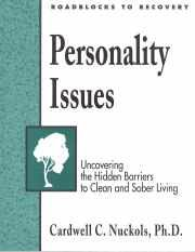 9781592855186: Roadblocks to Recovery Personality Issues Workbook