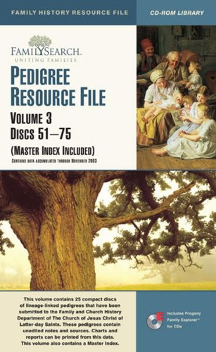 9781592970353: PEDIGREE RESOURCE FILE ((Master Index Included), Volume 3 Discs 51-75)