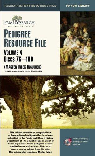 9781592970421: Pedigree Resource File, Vol. 4, Discs 76-100