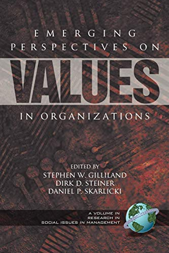 Emerging Perspectives on Values in Organizations (PB)
