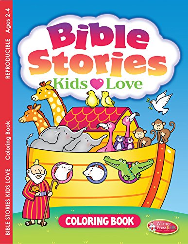 9781593178444: Bible Stories Kids Love, Coloring Book (ages 2-4) pack of 6