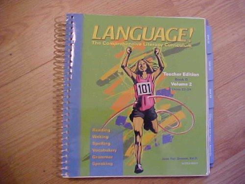 9781593183707: Language ! The comprehensive Literacy Curriculum (Teacher Edition, Book D Volume 2 Units 22-24)