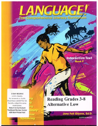 9781593183806: Interactive Text Book F (Language! The Comprehensive Literacy Curriculum)
