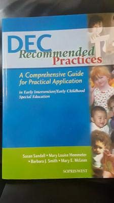 9781593184230: DEC Recommended Practices: A Comprehensive Guide for Practical Application