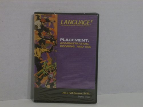 9781593186920: Language! The Comprehensive Literacy Curriculum: Placement - Administration, Scoring, and Use