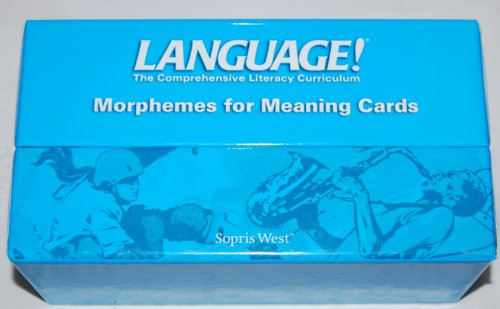 9781593187002: Language! Morphemes for Meaning Cards, Books A-f