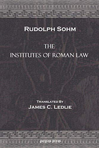 9781593330064: The Institutes of Roman Law