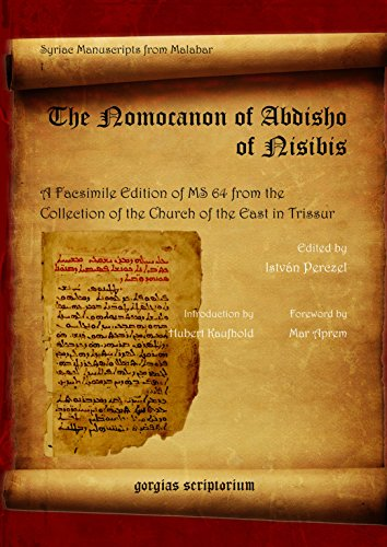 9781593331337: The Nomocanon of Abdisho of Nisibis: A Facsimile Edition of Ms 64 from the Collection of the Church of the East in Thrissur (Syriac Manuscripts from Malabar ; V. 1)